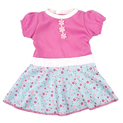 Baby Doll Dress Clothes, AOFUL Custom Design Flower Patterns Outfit Fits 14'' 16 inch Alive American Girl Dolls and More