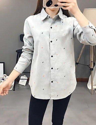 Mujer Camisa Blusa elegante mujer Blusa Camisa de mujer – – Camiseta de mujer bordado Lino Manga Larga geke teñido Solapa, color Blanco - blanco, tamaño S: Amazon.es: Deportes y aire libre