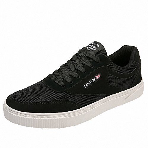 Ben Sports Mens Casual Lace up Skateboarding Shoes Footwear Sneakers Sport Shoes Black mIEMBv8