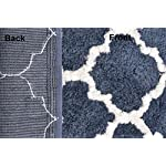AEROHAVEN™ Glorious Super Soft Microfiber Abstract Moroccan Designer Anti Slip Bathmat (Blue, 40 cm x 60 cm)