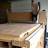 4' x 8' (4-foot x 8-foot) CNC machine - Heavy Duty -Version 4X - Kit with Interface Board, Control Cables for Motors, Spindle and Inverter. (GreenBull) (With Laser, Spindle and Inverter)