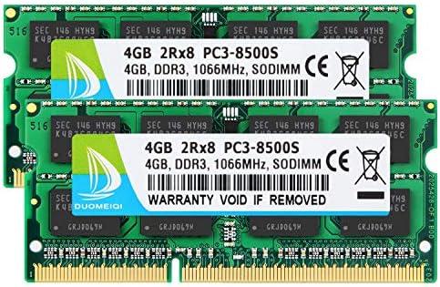 8GB Crucial Kits 2X 4GB 2RX8 PC3-8500S DDR3 1066 Mhz 204Pin Laptop Memory RAM 4G