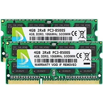8Gb (2X4Gb) Ram Memory Compatible with Toshiba Satellite ...