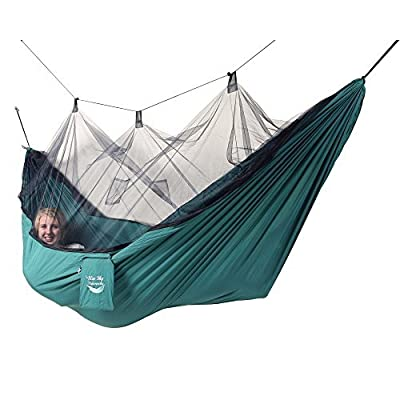 Blue Sky Outdoor Mosquito Net Hammock with Straps