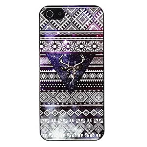 Ethnic Style with Moosehead Pattern Aluminous Hard Case for iPhone 5/5S