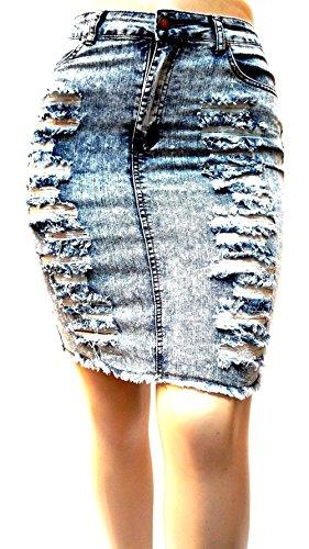 - Jack David Blue Sexy Womens Plus Size Stretch Denim Jeans Skirt Modern Series (2X, Zenobia Blue Acid Wash ZB5123 Skirt)