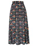 Vibrant Pattern Kate Kasin Women's African Maxi Skirt for Holiday L KK919-1