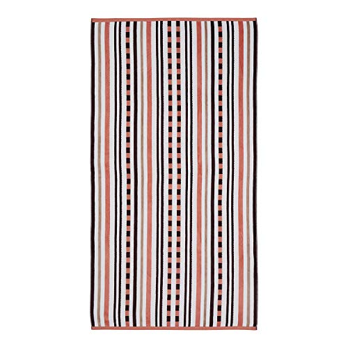 - Superior 100% Cotton 550 GSM, Soft, Plush and Highly Absorbent Stitch Textured Oversized Beach Towel (Set of 2)