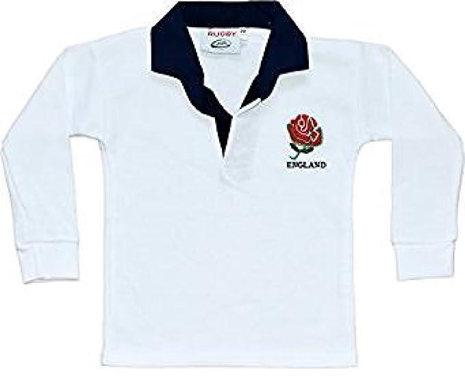 FHS - Polo de rugby de manga larga de Inglaterra, para bebés y ...
