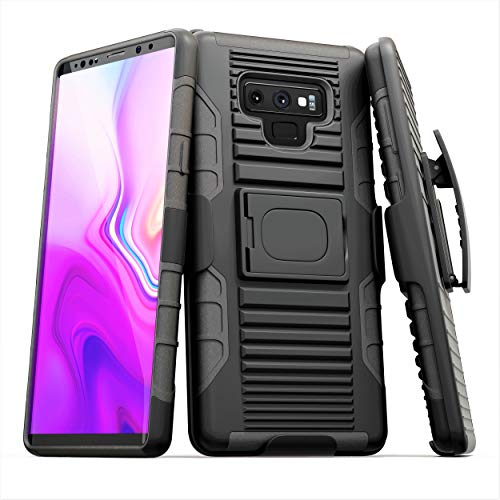 - Stronden Galaxy Note 9 Belt Case - Holster Case Belt Clip (Rubberized Grip) Slim Fit Protective Cover with Kickstand, Combo Shell Holder for Samsung Note 9 (Black)
