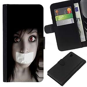 All Phone Most Case / Oferta Especial Cáscara Funda de cuero Monedero Cubierta de proteccion Caso / Wallet Case for Sony Xperia Z1 L39 // Anime Goth Girl