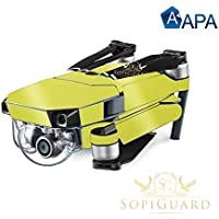 SopiGuard APA Lime Gloss Precision Edge-to-Edge Coverage Vinyl Skin Controller Battery Wrap for DJI Mavic Pro
