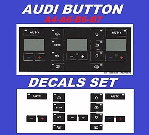 AC Button Repair Kit For Audi A4 A6 B6 B7 – Easily Fix Your Ugly Faded A/C Controls For Your Audi Vehicle