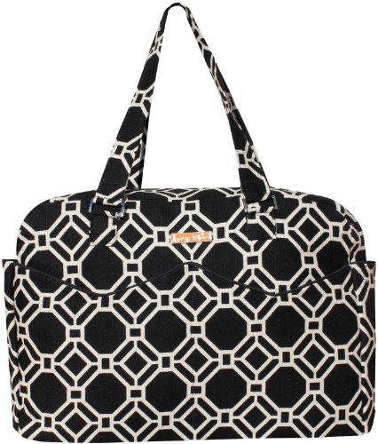 foxy-vida-lattice-satchel-diaper-bag-black