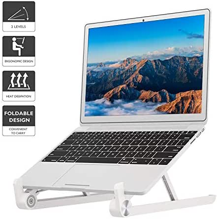 1home Foldable Portable Laptop Stand Adjustable Notebook Holder for Mac Book Tablet