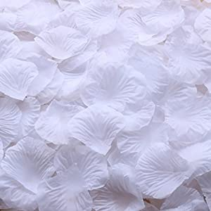 Gresorth White Artificial Silk Rose Petals Decor Fake Petal Flower Wedding Party Vase Decoration - 5000 PCS 12