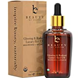 Organic Face Oil - Anti Aging Moringa Leaf Organic Facial Oil, Dark Spot Corrector Face Oils and Serums for Face Care, Face Moisturizer Anti Aging, Brightening Oil for Face, Hydrating Dry Skin Care