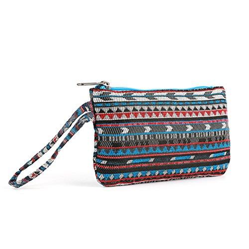 Plambag Canvas Backpack Set 3 Pcs, Casual Lightweight School Backpack for Women Teen Girls Sky Blue