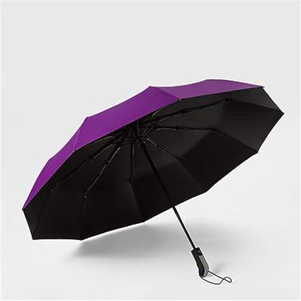 BBQBQ Paraguas Plegables Paraguas Plegable Triple automático ...