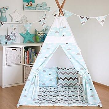Pericross® Kinder Tipi Zelt mit Boden Matte (Blau): Amazon.de: Spielzeug