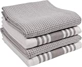 KAF Home KT-MADWF-DZ-S4 Set of 4 Absorbent, Durable and Soft Towels   Perfect for Kitchen Messes and Drying Dishes, Drizzle