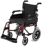 Roma Medical Lightweight Aluminium Transit Wheelchair - Red