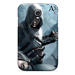 New Premium Flip Case Cover Assassins Creed Skin Case For Galaxy S4