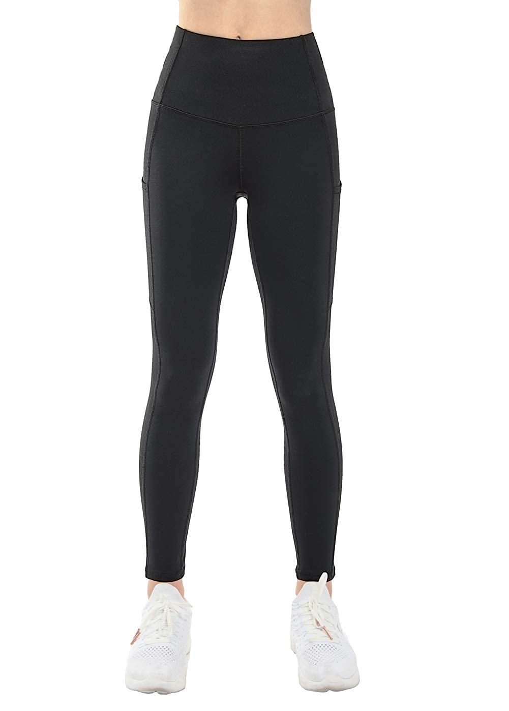 549f56c6b Amazon.com: THE GYM PEOPLE Thick High Waist Yoga Pants with Pockets, Tummy  Control Workout Running Yoga Leggings for Women: Clothing