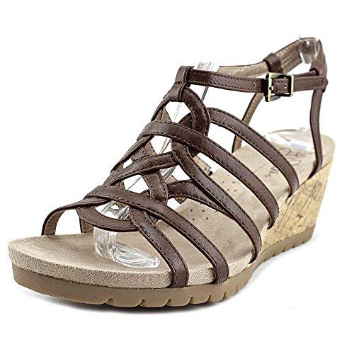 Lifestride Womens Neva Platform Sandal Dark Tan
