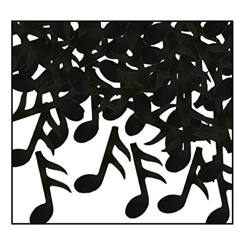 Beistle 50637-BK Fanci-Fetti Musical Notes (Value -
