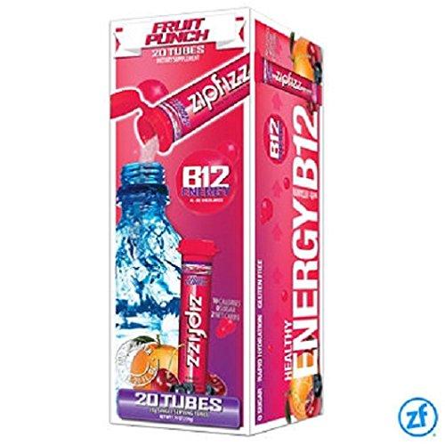 Zipfizz Healthy Energy Drink Mix, Fruit Punch, 20 Count, 7.76 oz