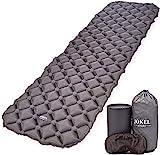 JÖKEL Sleeping Mat Ultralight Inflatable Camping Mattress, Comfortable Roll Mats, Grey Lightweight Compact Air Pad, Portable & Folding Inflating Single Bed, for Hiking Hammock Tent & Backpacking
