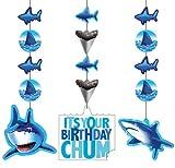 Creative Converting Shark Splash Hanging Decorations, 3 Pack