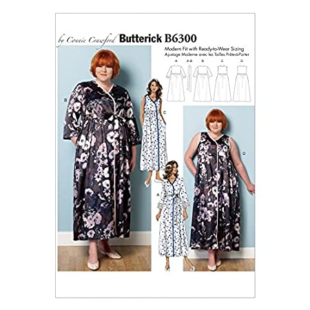 Butterick Ladies Sewing Pattern 6300 Dressing Gown, Belt & Negligee ...