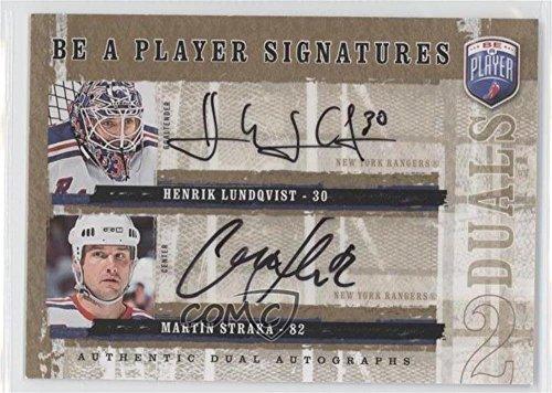 Henrik Lundqvist; Martin Straka (Hockey Card) 2006-07 Upper Deck Be a Player - Signatures Duals - [Autographed] #D-HM