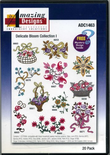 Delicate Bloom Collection I 20 Designs Amazing Designs Embroidery Solutions
