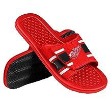 Detroit Red Wings NHL Men's Shower Slide Flip Flop Sandals