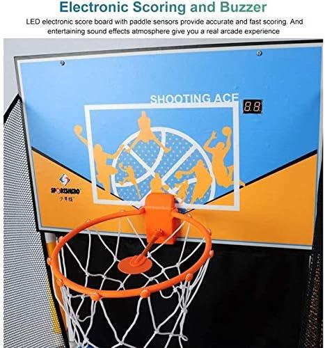 Basketball Shootout Game, Electronic Shoot Hoop Basketball Game met Scorebord/Net En 5 Ballen, Arcade Game voor Het Hele Gezin