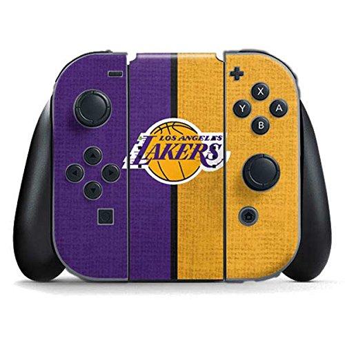 NBA Los Angeles Lakers Nintendo Switch Joy Con Controller Skin - Los Angeles Lakers Canvas Vinyl Decal Skin For Your Switch Joy Con Controller by Skinit