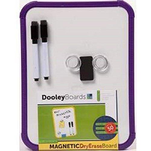 Plastic Framed Magnetic Dry Erase Board (Purple) by Dooley Board