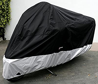 """Formosa Covers Premium Heavy Duty Motorcycle cover (XXL). Includes cable & lock. Fits up to 108"""" length Large cruiser, Tourer, Chopper."""