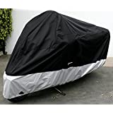 "Formosa Covers Deluxe All Season Motorcycle cover (XXL) Black. Fits up to 108"" length Large cruiser, Tourer, Chopper"