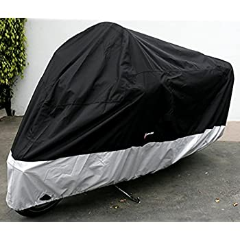 """Formosa Covers Deluxe All Season Motorcycle cover (XXL) Black. Fits up to 108"""" length Large cruiser, Tourer, Chopper"""