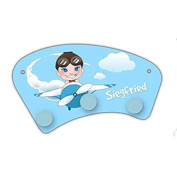 Wand Garderobe Mit Namen Siegfried Und Motiv Mit Pilot Flugzeug