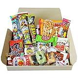 Kameda Crisps and OKAKI Rice Crackers Japanese Dagashi Snack Trial Box Set Kit Kat Gift Present with AKIBA KING Sticker