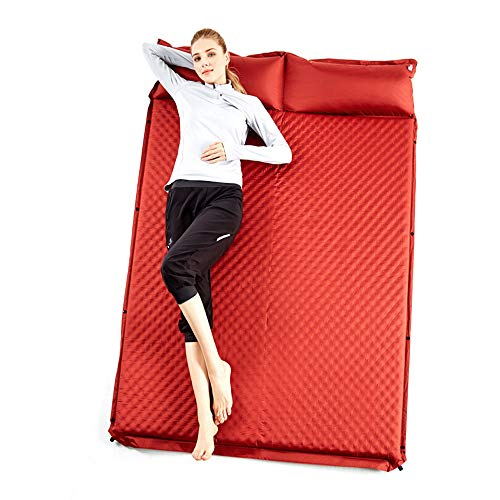 Vlook Lightweight Thicken Double Automatic Inflatable Camping Sleeping Pad with Pillow, Portable, Breathable and Comfortable, for Traveling Picnic