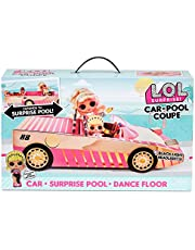 L.O.L. Surprise! 565222E7C bil pool coupe docka bil med svart ljuseffekt och ljud, inklusive docka