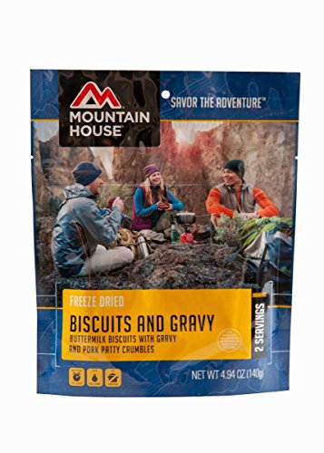 Mountain House Biscuits and Gravy, 4.94 oz, Pouch 2 Pack