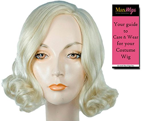 Long Length Marilyn Monroe - Lacey Wigs Women's Blonde Hollywood Actress Young Marylin 1950s Bundle with MaxWigs Costume Wig Care Guide