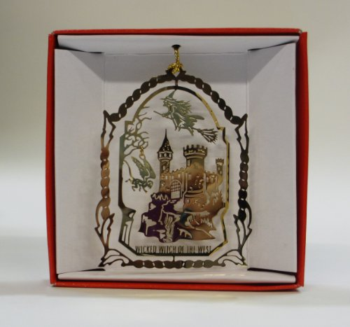 Wizard of Oz Christmas ORNAMENT Wicked Witch of the West Flying Monkey Evil Castle (Flying Monkeys In Wizard Of Oz)